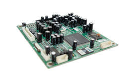 Isolated board with processor Royalty Free Stock Photography
