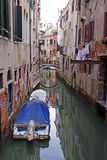 Isolated boat on venice channel Royalty Free Stock Photography