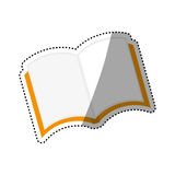 Isolated book open. Icon  illustration graphic design Royalty Free Stock Photos