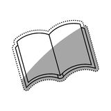 Isolated book open. Icon  illustration graphic design Stock Photography