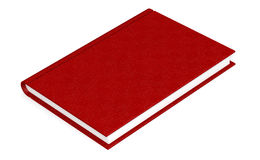 Isolated book with red cover Royalty Free Stock Photo