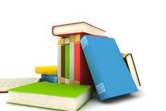 Isolated books Royalty Free Stock Photos