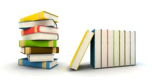 Isolated books stock photo