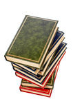 Isolated books stack Stock Photo
