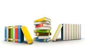 Isolated books on white background stock images