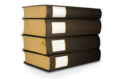 Isolated books on the white background Royalty Free Stock Photos