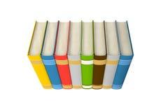 Isolated books on white background stock photos