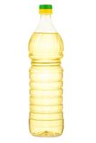 Isolated bottle of yellow oil Stock Photo