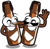 Isolated bottles of beer cartoon Royalty Free Stock Images