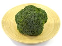 An isolated bowl of bamboo with a Broccoli Stock Photos