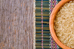 Isolated bowl with brown rice Royalty Free Stock Images