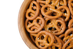 Isolated bowl of crunchy pretzels Stock Photos