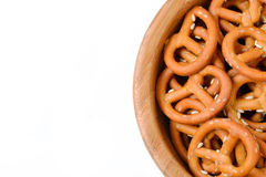 Isolated bowl of crunchy pretzels Royalty Free Stock Photography
