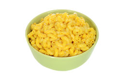 Isolated bowl macaroni and cheese Royalty Free Stock Images