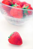 Isolated bowl with strawberry Royalty Free Stock Image