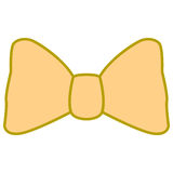 Isolated bowtie icon. On a white background, Vector illustration Royalty Free Stock Photos