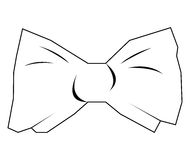 Isolated bowtie outline. Isolated outline of a bowtie on a white background, Vector illustration Stock Photo