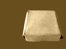 Isolated box. Old grungy box stock image