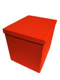 Isolated box. In red Royalty Free Stock Images