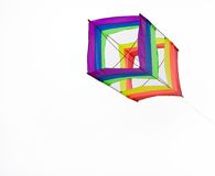 Isolated box kite. Box kite isolated with a white back ground Royalty Free Stock Images