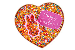 Isolated box with sprinkle dots. Little sweets, Easter greeting card royalty free stock image