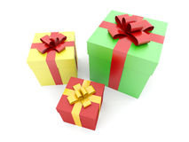 Isolated boxes with gifts Stock Photography
