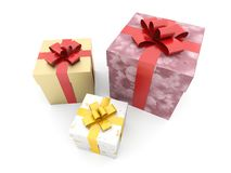 Isolated boxes with gifts Stock Photos
