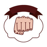 Isolated boxing fist inside frame. Fist inside frame icon. Boxing sport competition fight and training theme. Isolated design. Vector illustration Royalty Free Stock Image