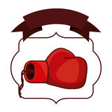 Isolated boxing glove inside frame. Glove inside frame icon. Boxing sport competition fight and training theme. Isolated design. Vector illustration Royalty Free Stock Photography