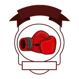 Isolated boxing glove inside frame. Glove inside frame icon. Boxing sport competition fight and training theme. Isolated design. Vector illustration Stock Image