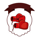 Isolated boxing glove inside frame. Glove inside frame icon. Boxing sport competition fight and training theme. Isolated design. Vector illustration Stock Images