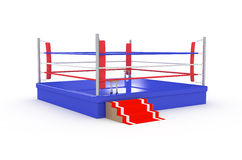 Isolated boxing ring Royalty Free Stock Photo