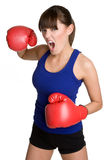 Isolated Boxing Woman Royalty Free Stock Image