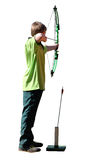 Isolated Boy Archer with Bow and Arrow stock images