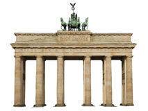 Isolated brandenburger tor Berlin Royalty Free Stock Images