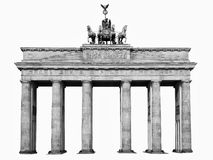 Isolated brandenburger tor Berlin Royalty Free Stock Photos