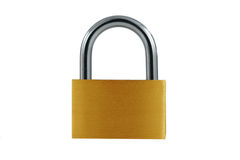 Free Isolated Brass Lock On White Royalty Free Stock Photo - 4811835