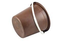 Isolated braun plastic bucket Stock Photo