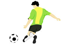 Isolated brazil dress football player shooting vector Royalty Free Stock Photo