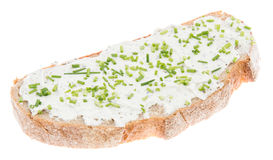 Isolated bread with Creme Cheese Royalty Free Stock Photography