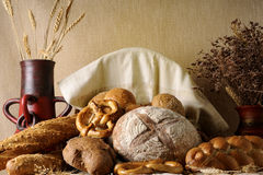 isolated bread and food Stock Image