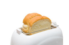 Isolated Bread and Toaster Royalty Free Stock Image