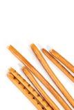 Isolated breadsticks on white. Breadsticks on white.Isolated breadsticks on white Royalty Free Stock Photo