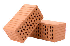 Isolated brick for construction Royalty Free Stock Photos