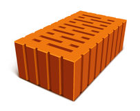 Isolated brick for house construction Royalty Free Stock Photos