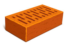 Isolated brick for house construction Royalty Free Stock Photography