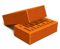 Isolated bricks for house construction Stock Photo
