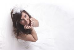Isolated Bride Royalty Free Stock Photography
