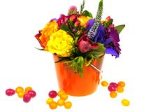 An isolated bright bouquet Stock Photo