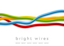 Isolated bright vector wires on white background Stock Photography